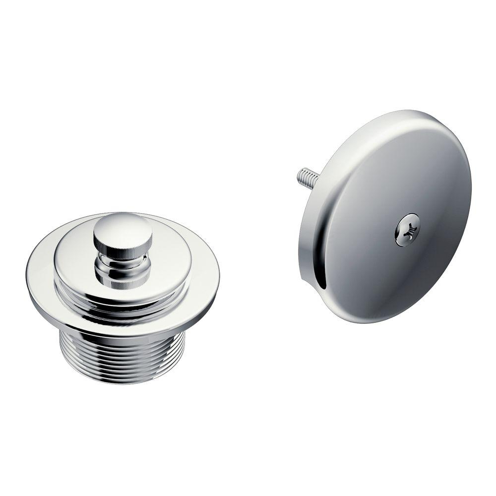 Bathroom Tub Parts: MOEN Tub And Shower Drain Covers In Chrome-T90331