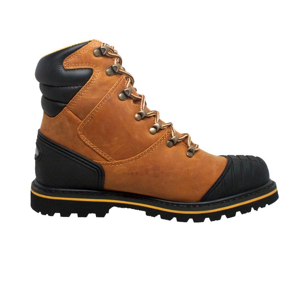 f53ee15e29b AdTec Men's Size 13 Light Brown Leather 7 in. Steel Toe Work Boots