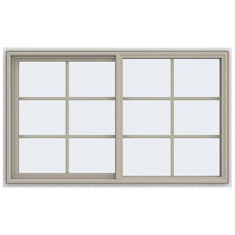 59.5 in. x 35.5 in. V-4500 Series Left-Hand Sliding Vinyl Window