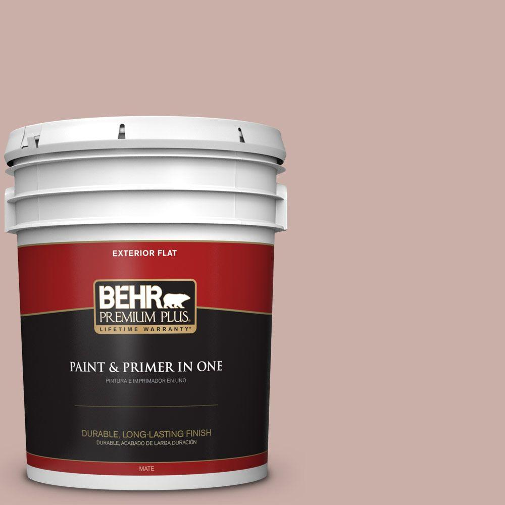 5 gal. #HDC-CT-07A Vintage Tea Rose Flat Exterior Paint