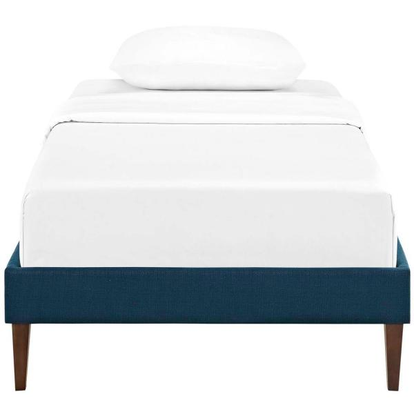 Tessie Azure Twin Bed Frame with Squared Tapered Legs