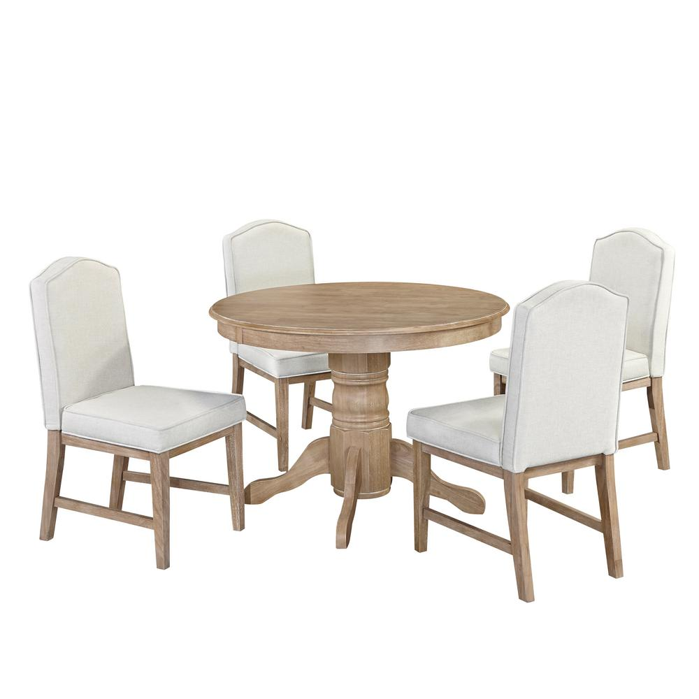 HomeSullivan 5-Piece Antique White And Cherry Dining Set