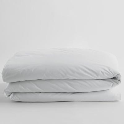 White Solid Supima Cotton Percale Twin Duvet Cover