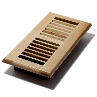 4 in. x 10 in. Maple Floor Register