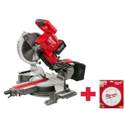M18 FUEL 18-Volt Lithium-Ion Brushless Cordless 7-1/4 in. Dual Bevel Sliding Compound Miter Saw Kit with Extra Blade