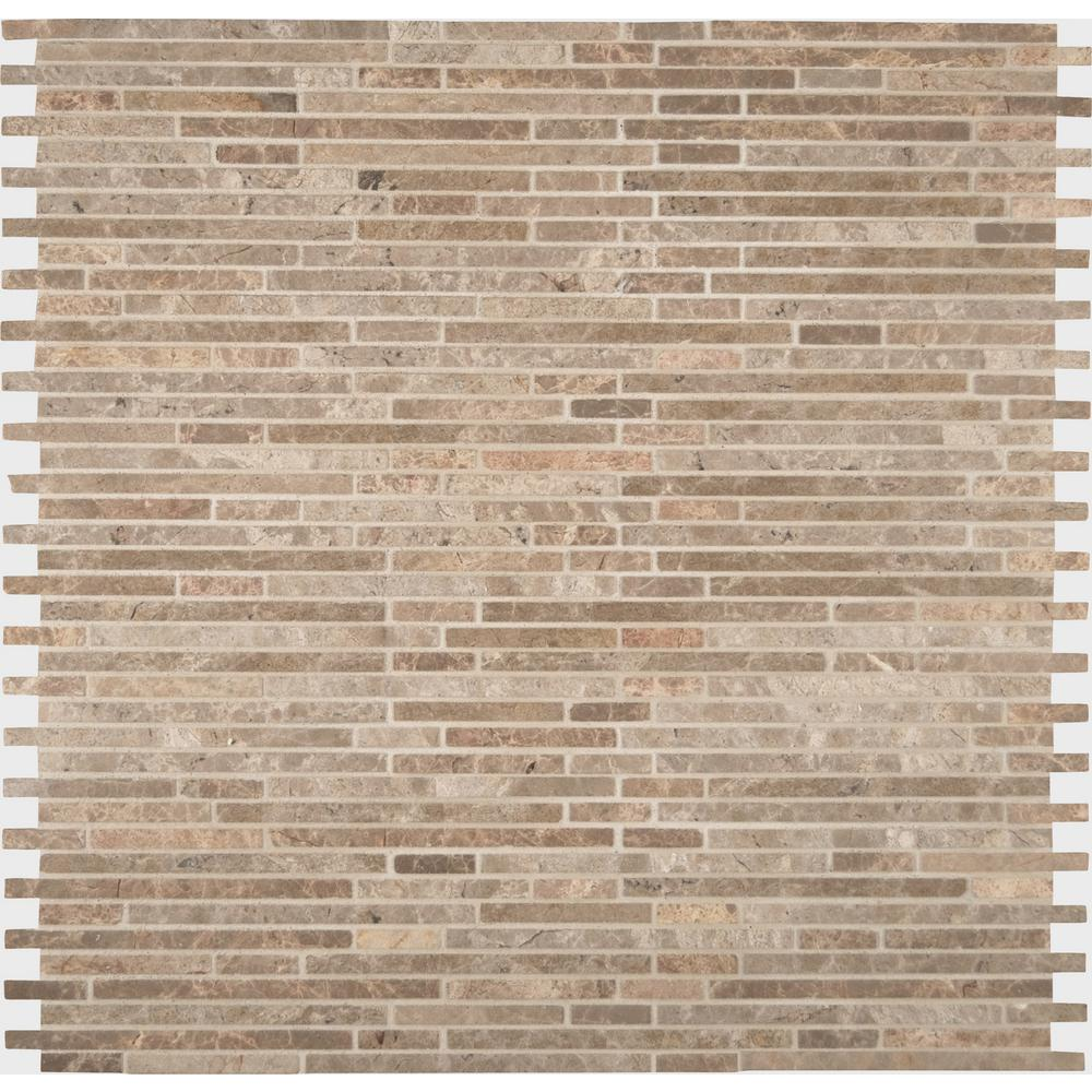 Crema Ivy Bamboo 12 in. x 12 in. x 10mm Honed