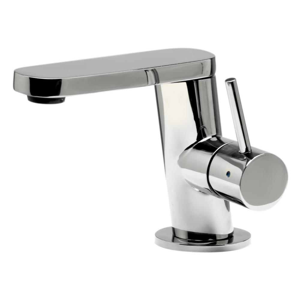 ALFI BRAND Single Hole Single-Handle Bathroom Faucet in Polished Stainless Steel