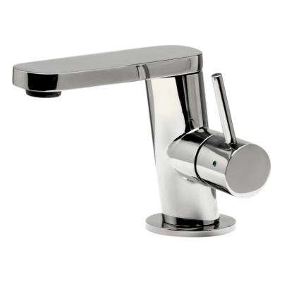 Single Hole Single-Handle Bathroom Faucet in Polished Stainless Steel