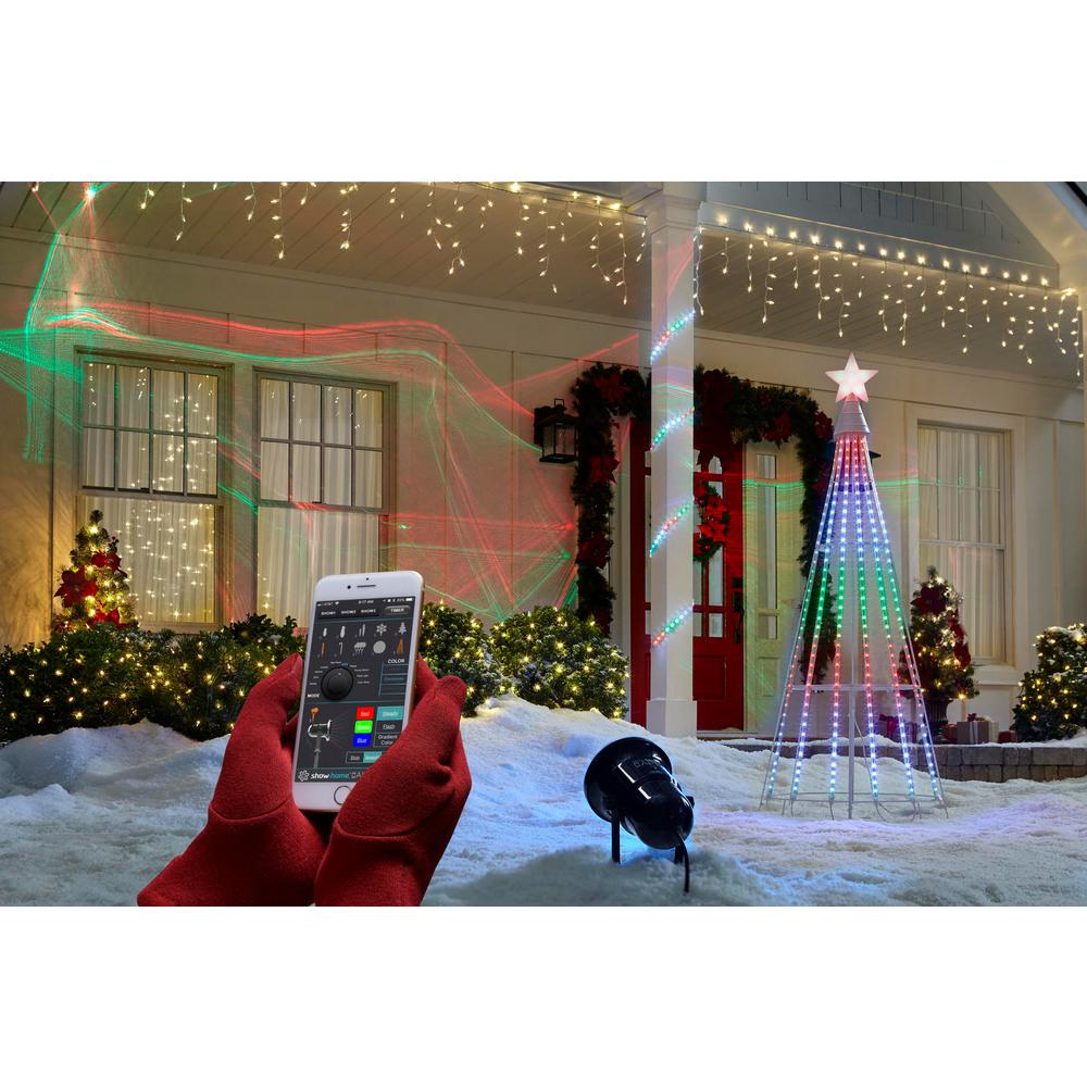 Hologram Christmas Tree Projector.Showhome App Laser Rgb 3d Projector