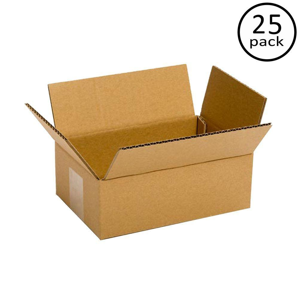 Plain Brown Box 8 in. x 6 in. x 4 in. 25 Moving Box Bundle
