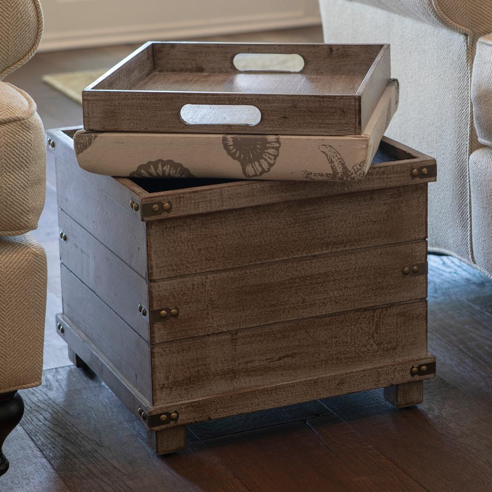Peachy Decor Therapy Hadley Gray Storage Ottoman Fr8702 The Home Machost Co Dining Chair Design Ideas Machostcouk