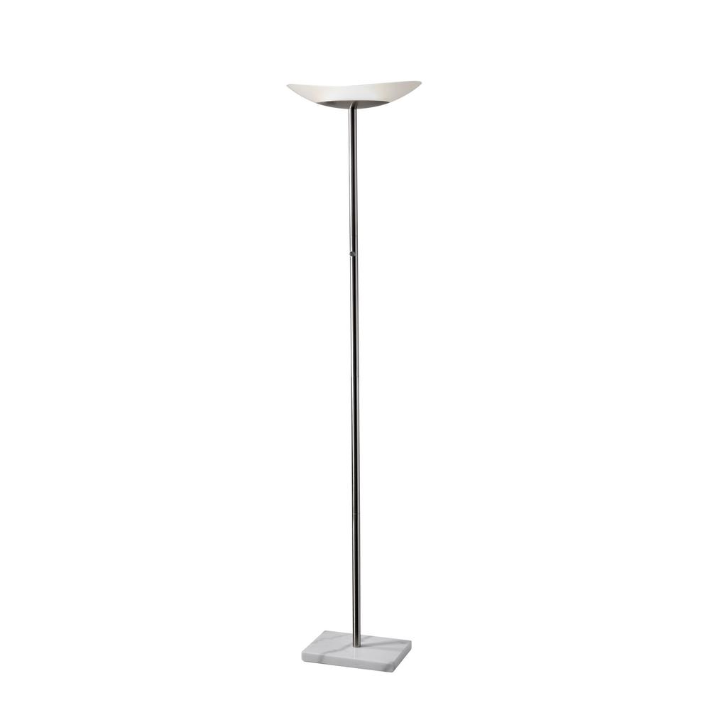 Globe Electric 71 In Black Satin Led Floor Lamp Torchiere