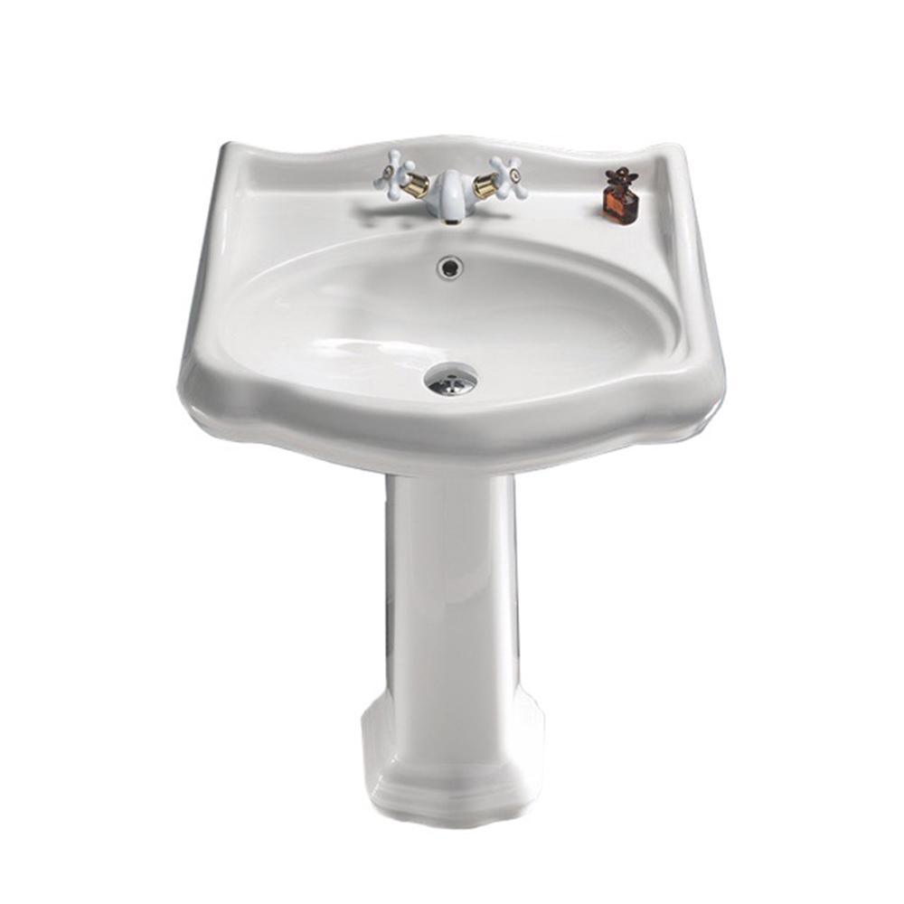 Nameeks Traditional Pedestal Sink In White Cerastyle 030200 Ped One