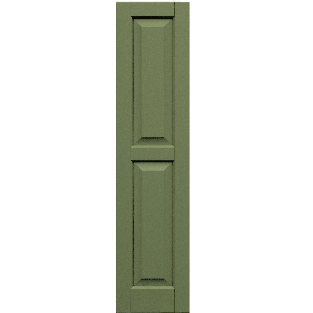Winworks Wood Composite 12 in. x 51 in. Raised Panel Shutters Pair #660 Weathered Shingle