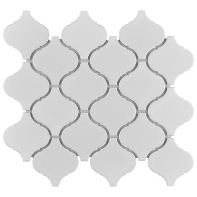 Metro Lantern Matte White 9-1/2 in. x 10-3/4 in. Porcelain Mosaic Tile (14.53 sq. ft./Case)