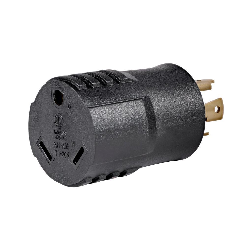 30 Amp 120-Volt L14-30P to TT-30R Generator Plug Adapter