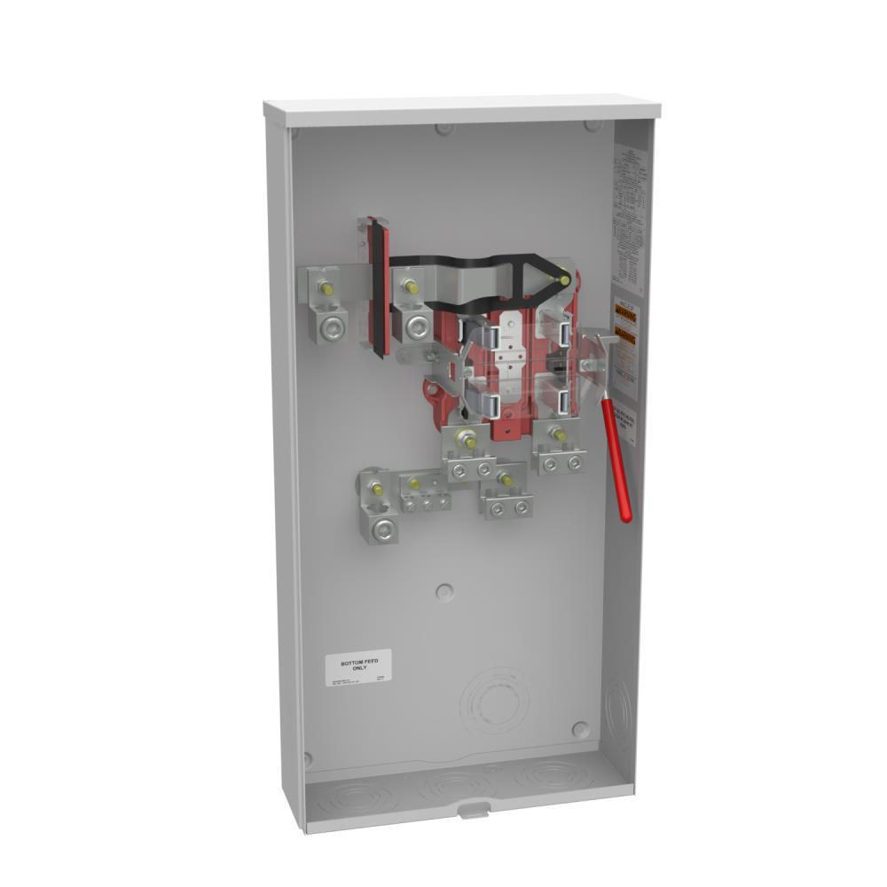 320 Amp 4 Terminal Ringless Side Wireway Underground Meter Socket