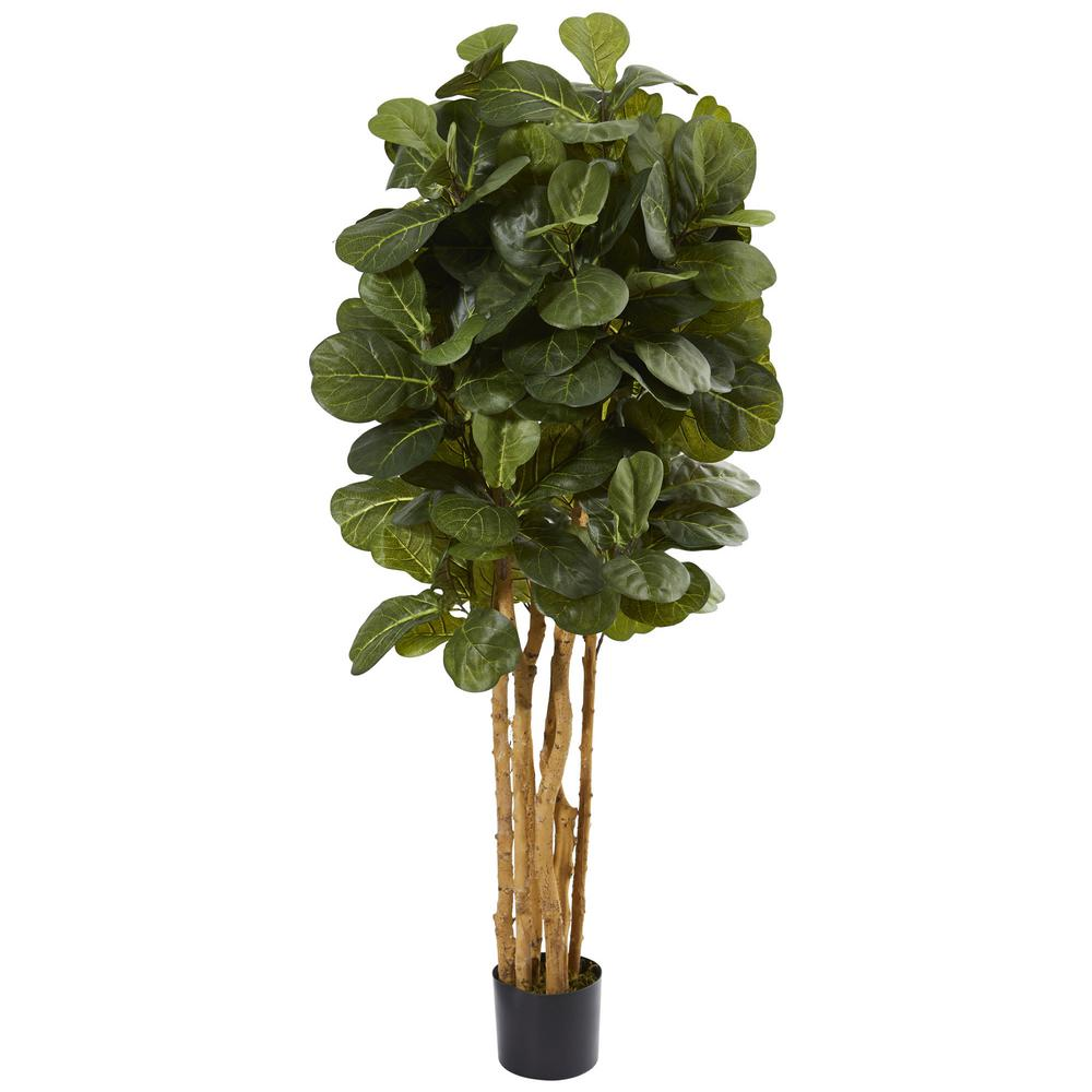 nearly natural 5 in. fiddle leaf fig artificial tree-5487 - the home