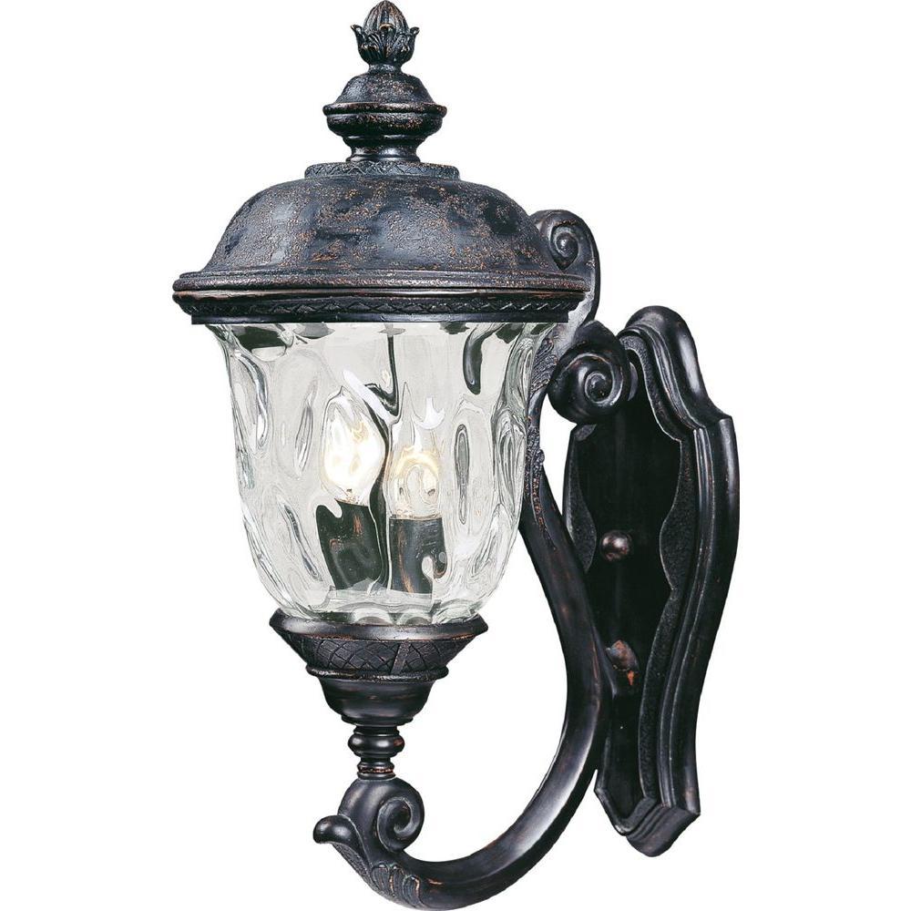 Maxim Lighting Carriage House Vivex 2 Light Oriental Bronze Outdoor Wall Lantern Sconce
