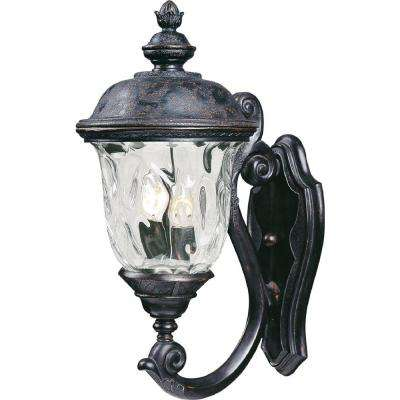 Carriage House Vivex 2-Light Oriental Bronze Outdoor Wall Lantern Sconce