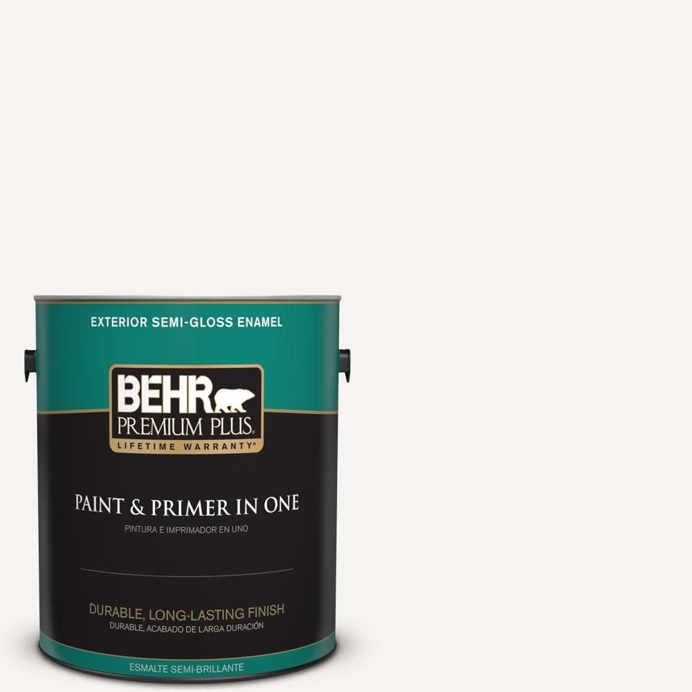 BEHR Premium Plus Home Decorators Collection 1-gal. #HDC-MD-08 Whisper White Semi-Gloss Enamel Exterior Paint
