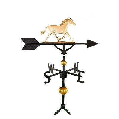 32 in. Deluxe Gold Horse Weathervane