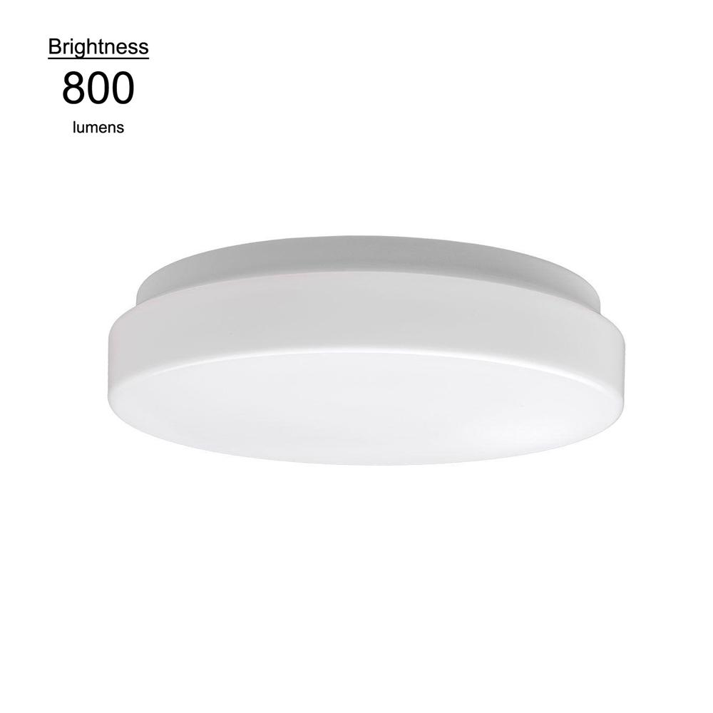 Commercial Electric 7 in. White Low Profile 11.5 Watt, 800 Lumen, 4000k Bright White Integrated LED Flushmount Ceiling Light Fixture