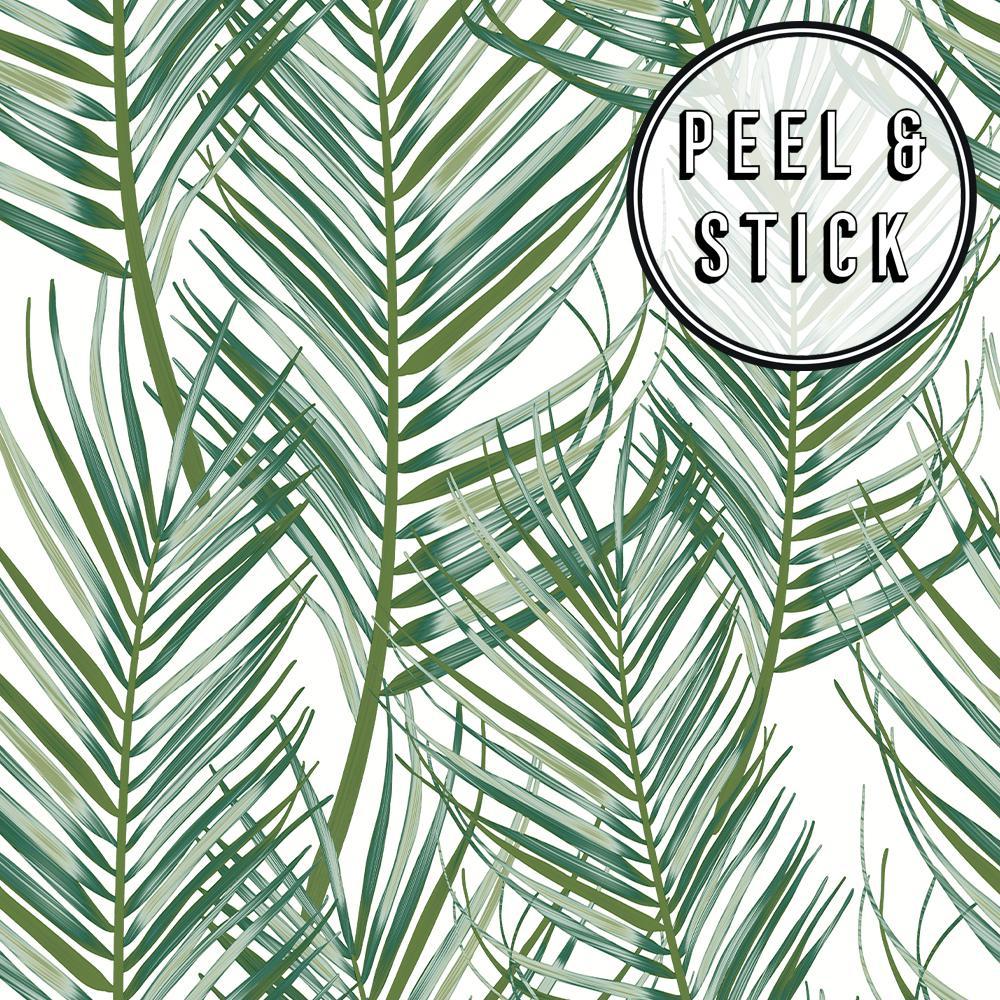 Transform Palm Green/White Vinyl Peelable Roll (Covers 30.75 sq. ft.)