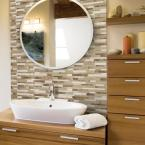Smart Tiles Milano Sasso 11.55 in. W x 9.65 in. H Brown and Beige Peel and Stick Self-Adhesive Decorative Mosaic Wall TileBacksplash