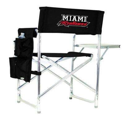 Miami (OH) University Black Sports Chair with Embroidered Logo