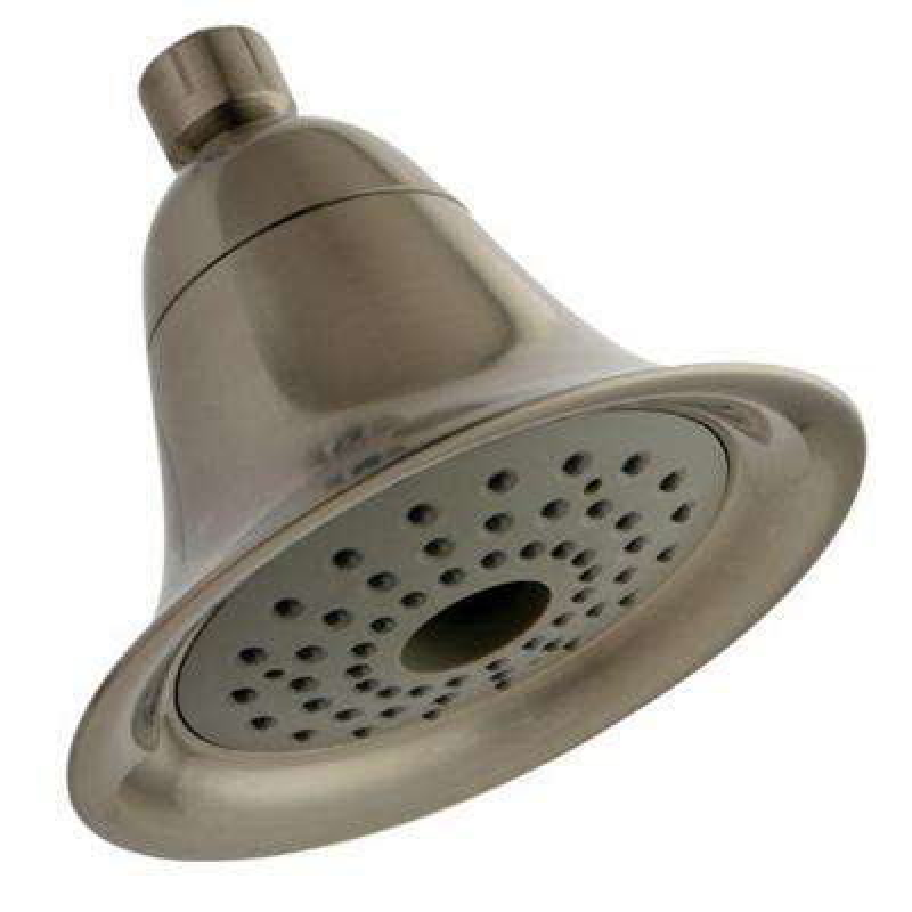 2-Spray 6 in. Velocity Aero Flow Showerhead in Satin Nickel