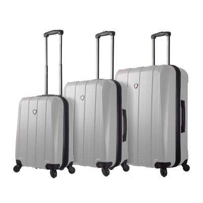 Tosetti 3-Piece White Hardside Spinner Luggage Set
