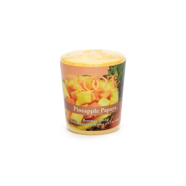 20-Hour Pineapple Papaya Scented Votive Candle (Set of 18)
