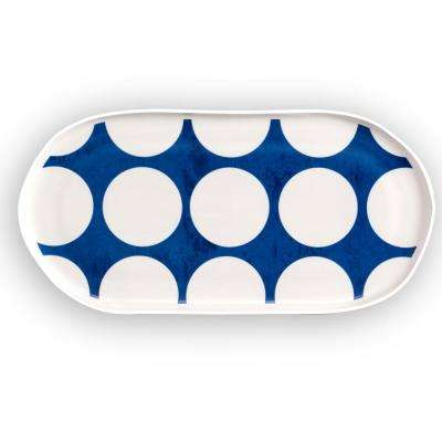 Azure Oval Serving Tray