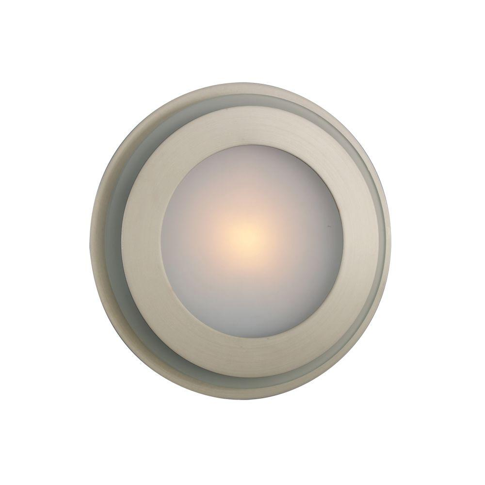 Eurofase Ring Collection 1-Light Satin Nickel Wall Sconce