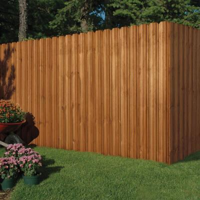 6 ft. x 6 ft. Pressure-Treated Cedar-Tone Moulded Wood Unassembled Fence Panel Kit