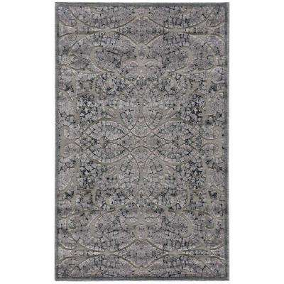 Graphic Illusions Grey 4 ft. x 6 ft. Area Rug