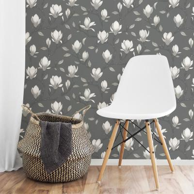 Grandiflora Charcoal Magnolia Wallpaper