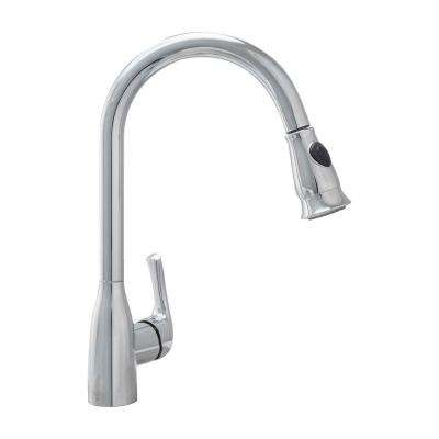 Single-Handle Pull-Down Sprayer Kitchen Faucet with Ceramic Disc Valve in Chrome