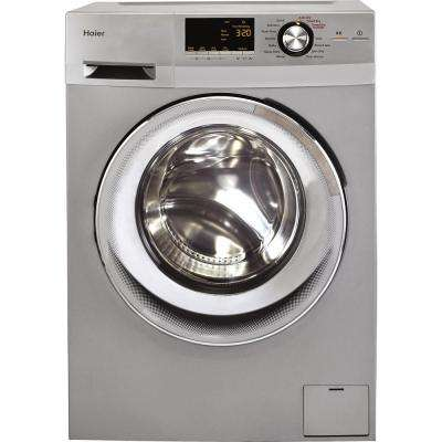 2.0 cu. ft. High Efficiency All-in-One Front Load Washer and Electric Dryer in Silver