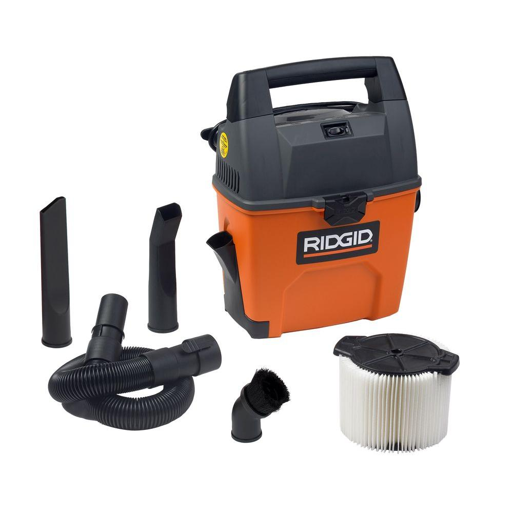 RIDGID 3-Gal. Wet/Dry Vac with Bonus