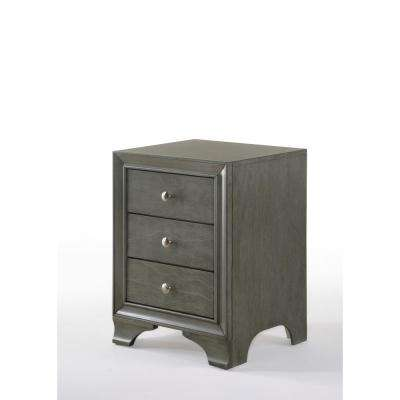 Blaise Gray Oak Nightstand