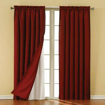Thermaliner White Blackout Energy Saving Curtain Liners, 80 in. Length (1 Pair)