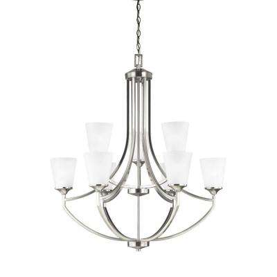Hanford 9-Light Brushed Nickel Multi-Tier Chandeliers