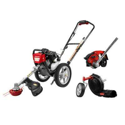 43 cc Wheeled String Trimmer Plus Edger Attachment and Blower Attachment Combo Kit