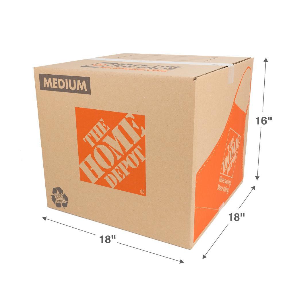 18 in. L x 18 in. W x 16 in. D Medium Box