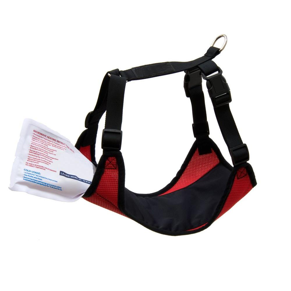 PortablePET X-Small Dog Cooling and Warming Adjustable Mesh Harness in Red