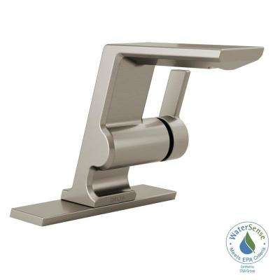 Pivotal Single Hole Single-Handle Bathroom Faucet in Stainless