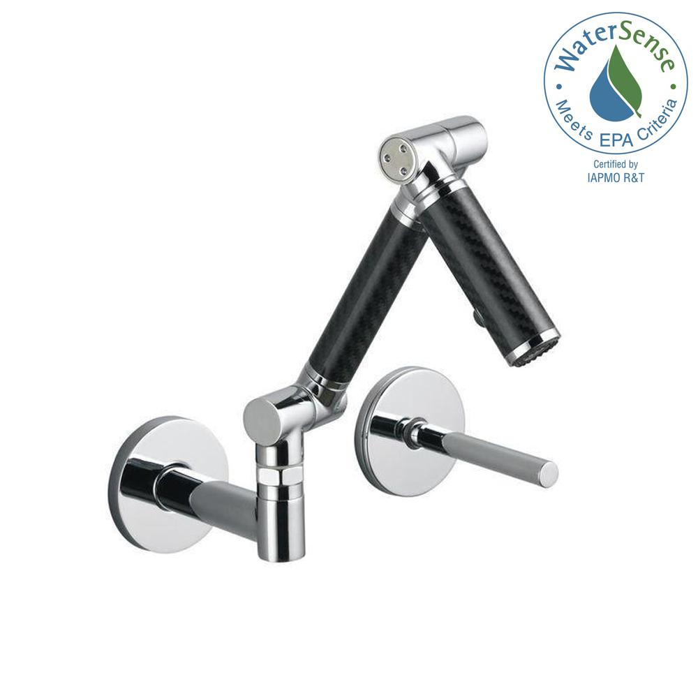 KOHLER Karbon Single-Handle Wall Mount Bathroom Faucet with Mid-Arc ...