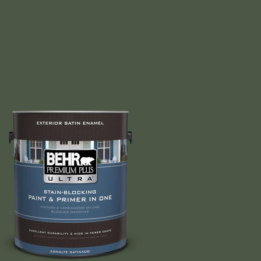 BEHR Premium Plus Ultra 1-gal. #440F-7 Fresh Pine Satin Enamel Exterior Paint